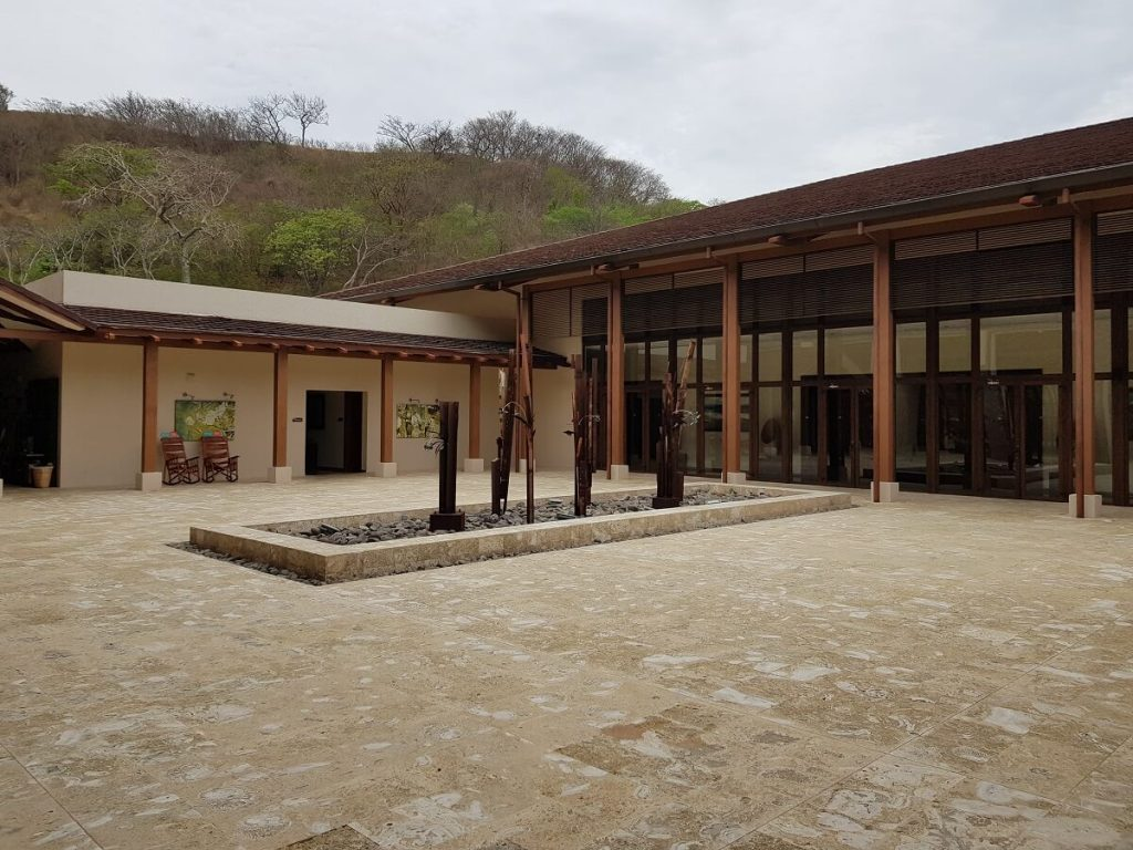 courtyard area outside the ballrooms at the dreams hotel in costa rica