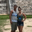 honeymoon couple at chichen itza