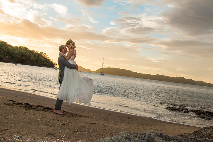Costa Rica beach wedding at the Secrets Papagayo