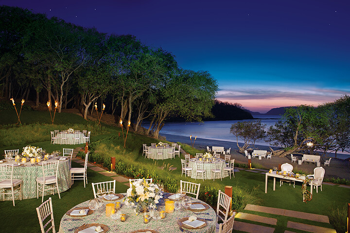 Wedding venue at the Secrets Papagayo in Costa Rica