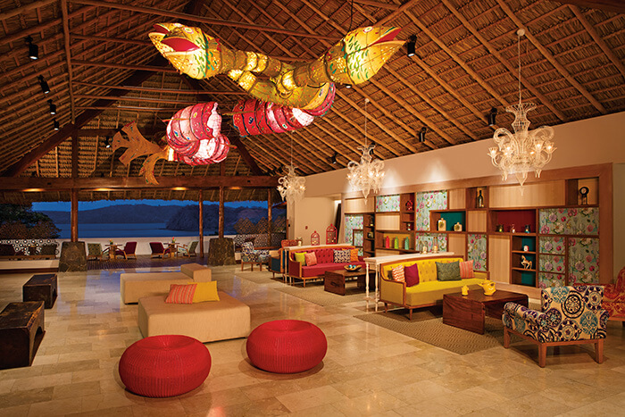 Main lobby area for the Secrets Papagayo resort in Costa Rica