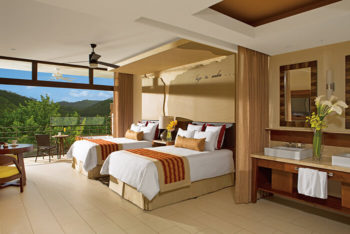 junior suite tropical view with two double beds at the dreams las mareas