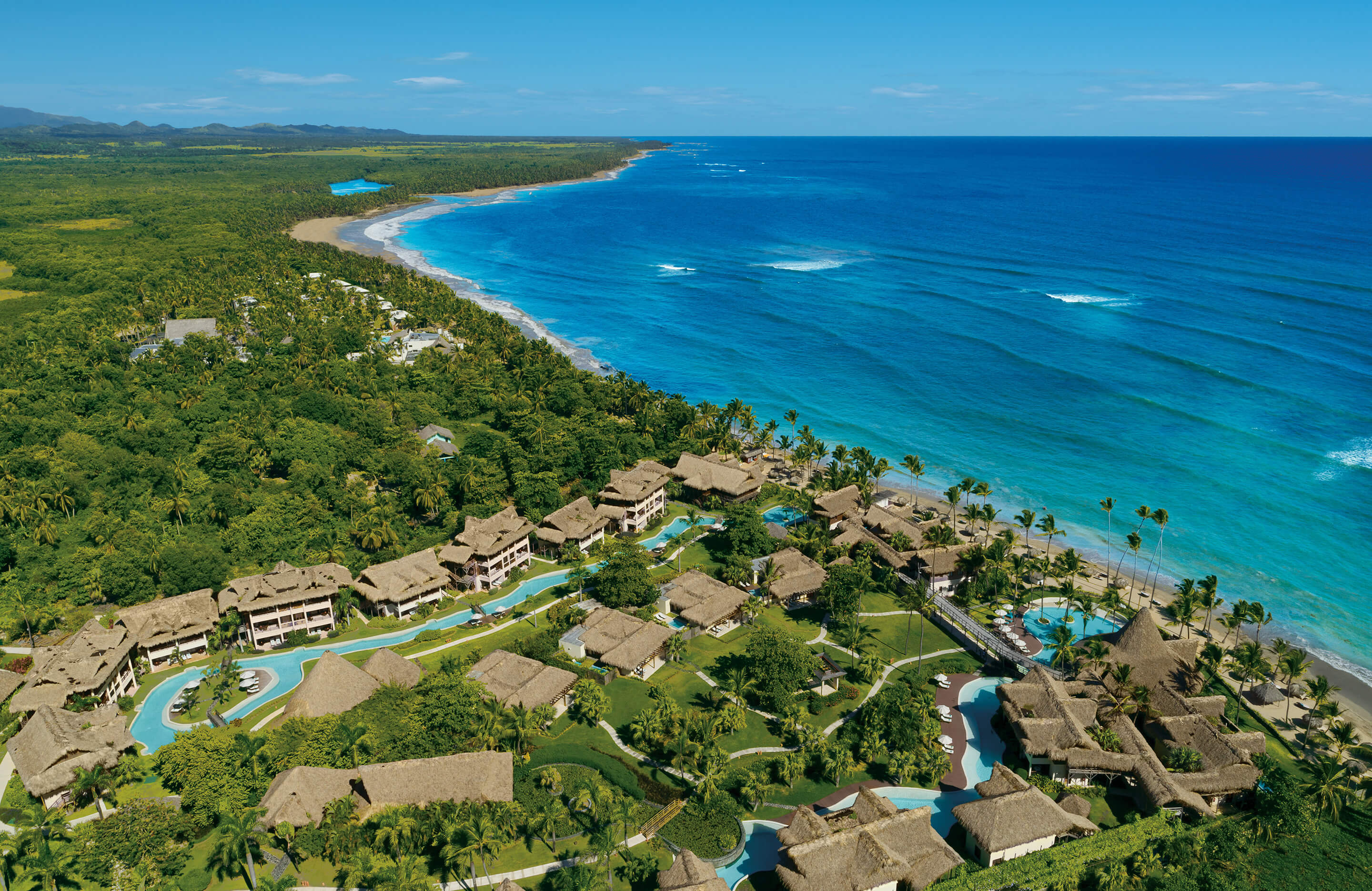 Aerial view of the boutique property Zoetry Agua Punta Cana