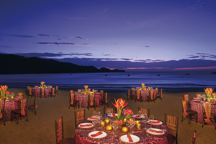 dreams las mareas in costa rica beach wedding reception