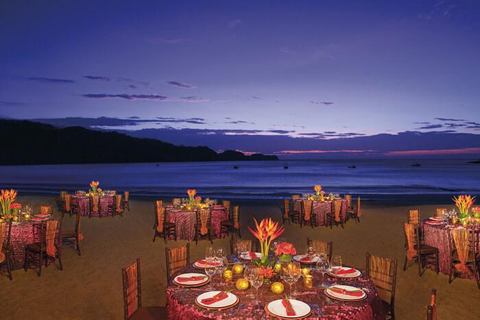 dreams las mareas in costa rica beach wedding reception