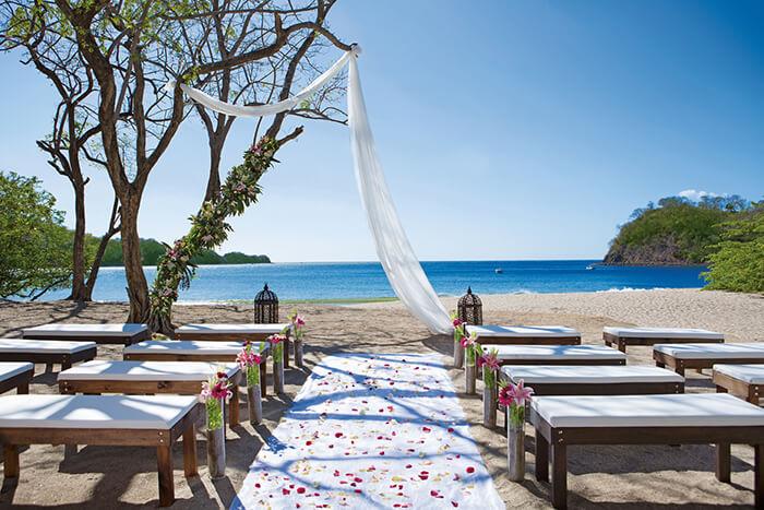 dreams las mareas weddings beach reception set-up