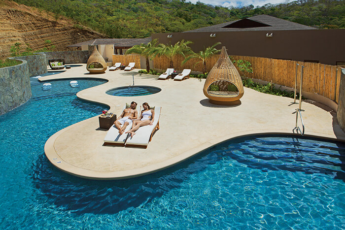 Spa relaxation area at the dreams costa rica