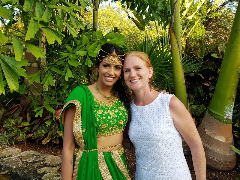 lisa wright, destination wedding travel agent and selnika, a bride at the sandos playacar