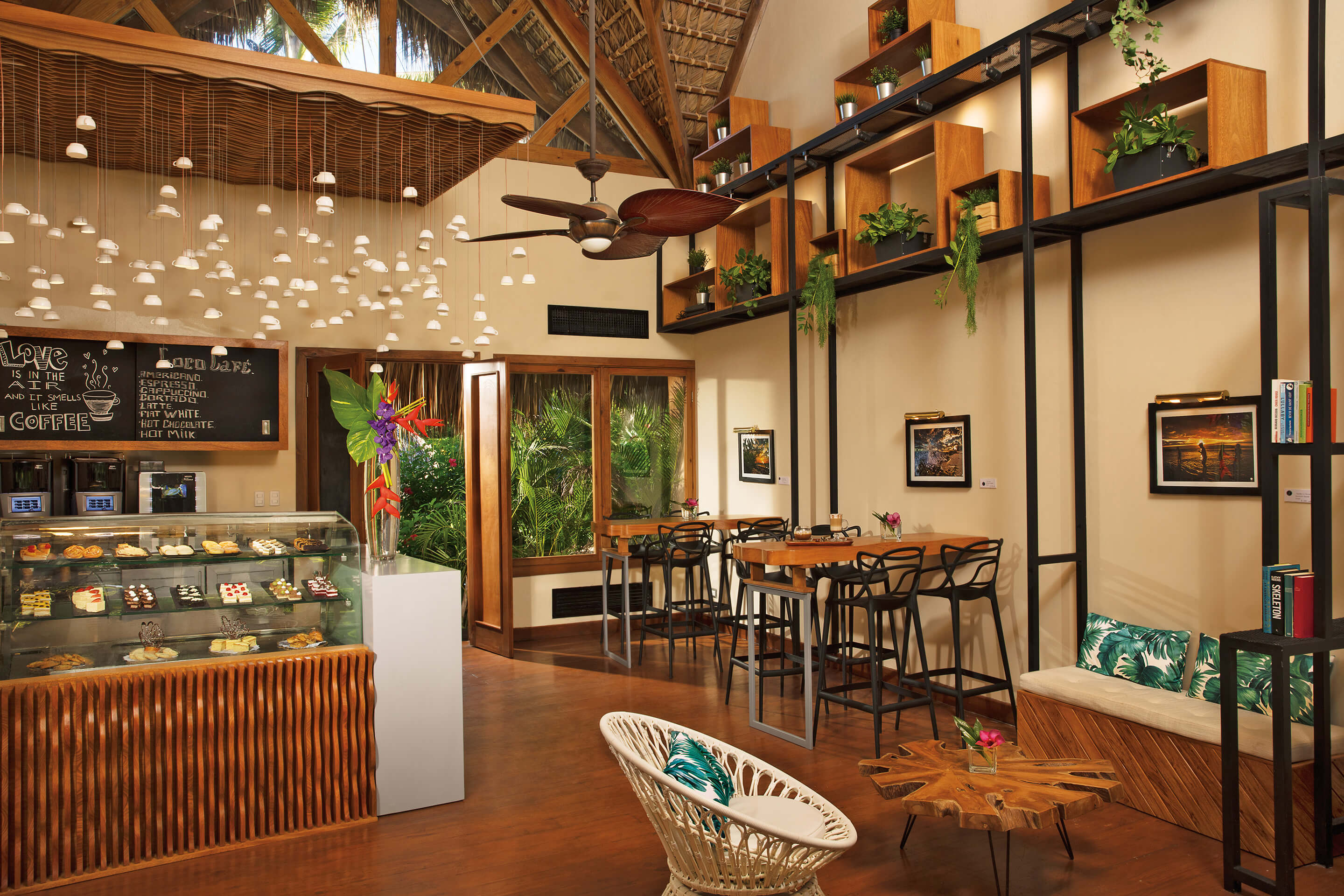 Gourmet coffee and snacks at the Coco Cafe at the Zoetry Agua Punta Cana