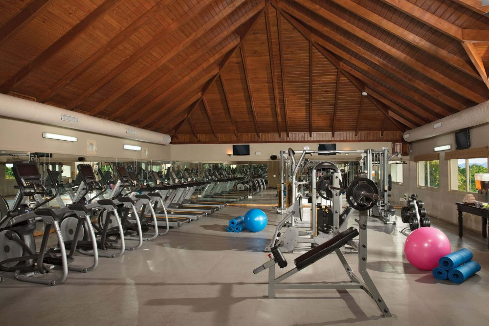 fitness center at the dreams punta cana