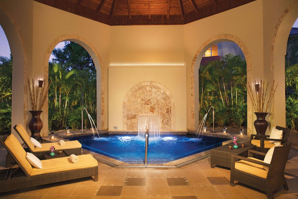 spa hydrotherapy area at the dreams punta cana