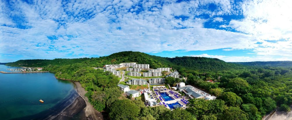 aerial view of the planet hollywood in costa rica