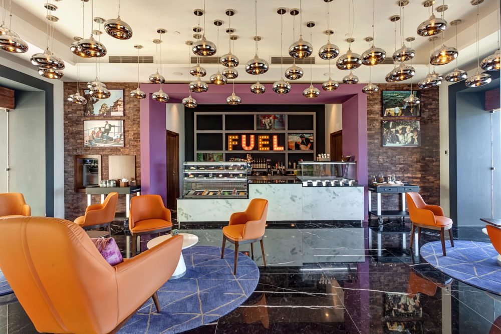 coffee shop called Fuel at the Planet Hollywood Costa Rica
