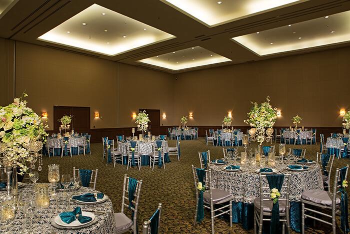 ballroom reception at the Dreams Los Cabos