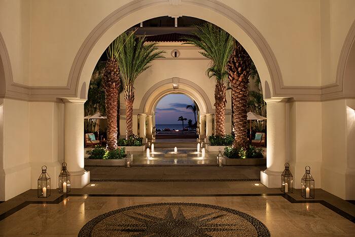 lobby entrance area at the Dreams Los Cabos