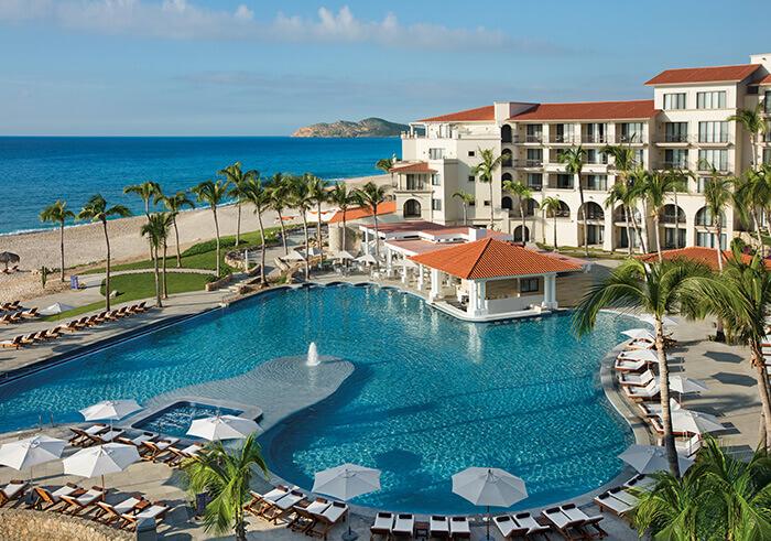 Main pool area at the Dreams Los Cabos all inclusive resort