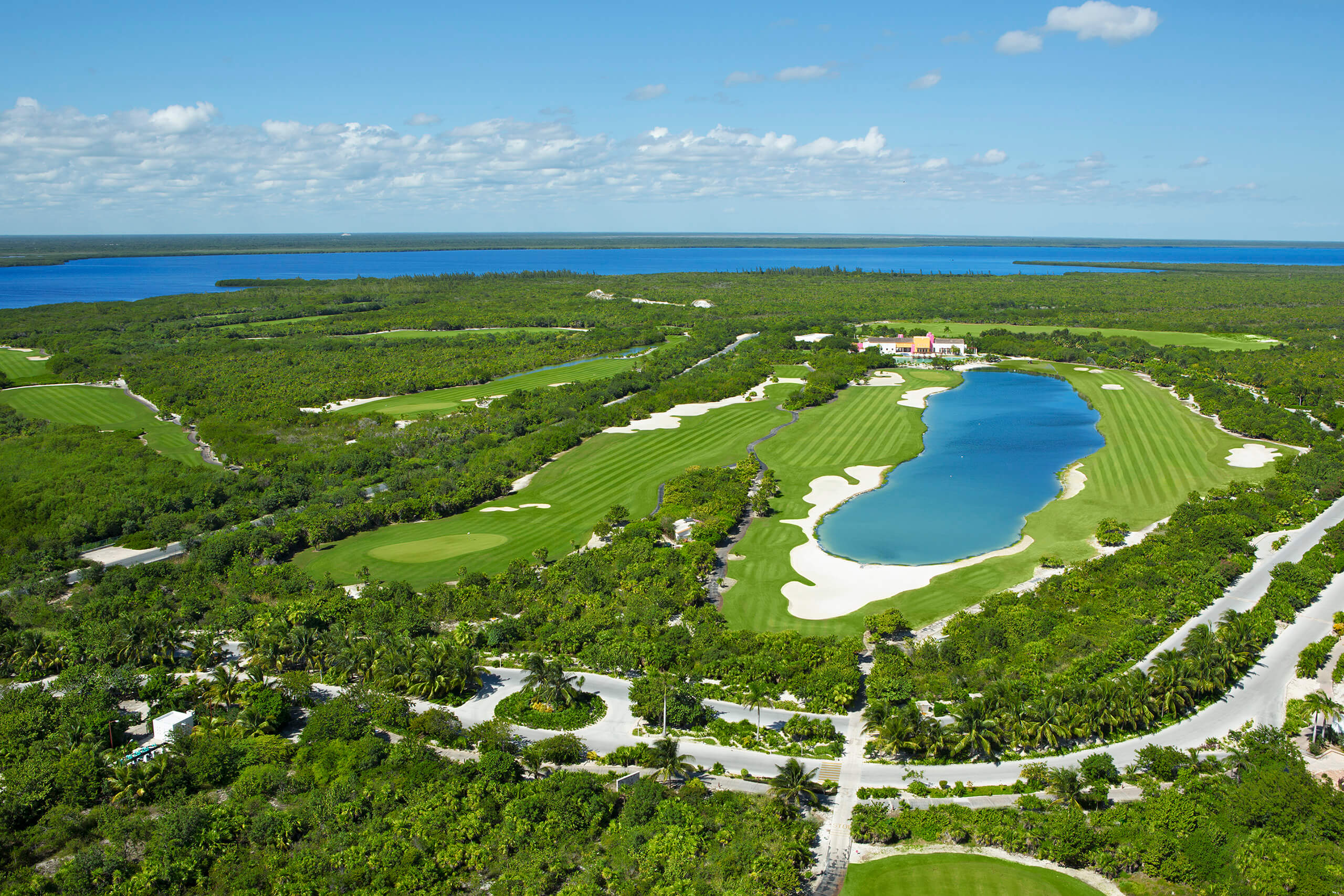 aerial view of the playa mujeres golf course