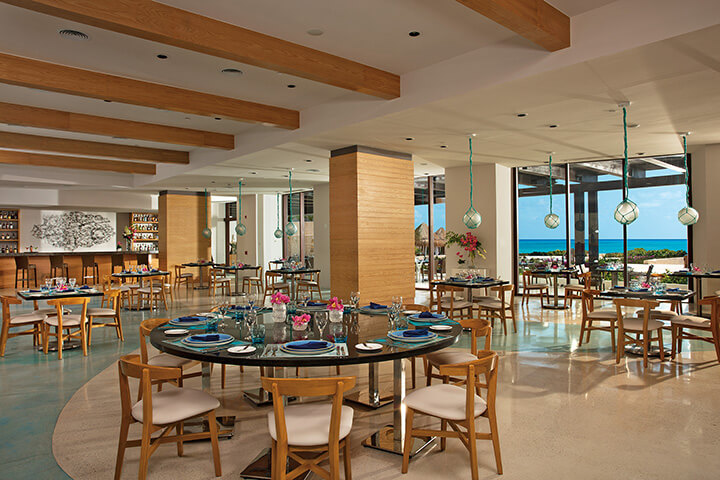 Seafood restaurant Maris at the Dreams Playa Mujeres