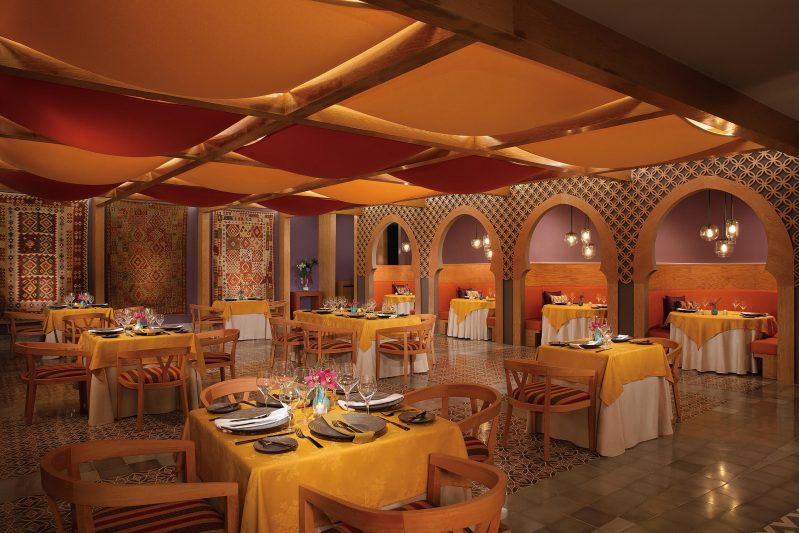 Mediterranean restaurant mezes at the dreams playa mujeres