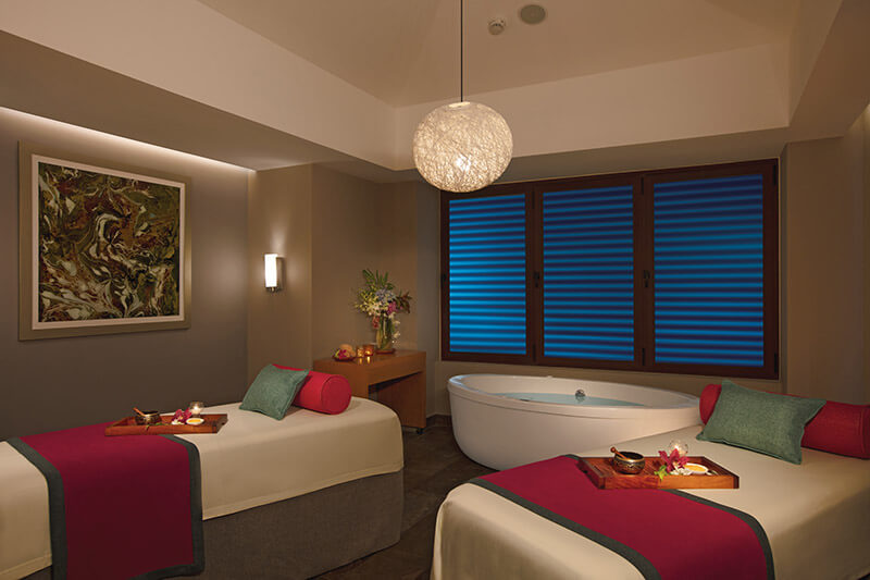 couples massage cabin at the spa dreams playa mujeres