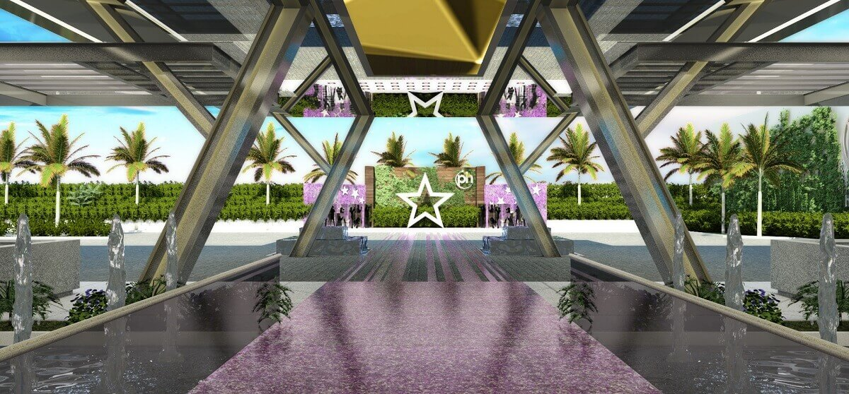 main entrance with stars at the Planet Hollywood Cancun