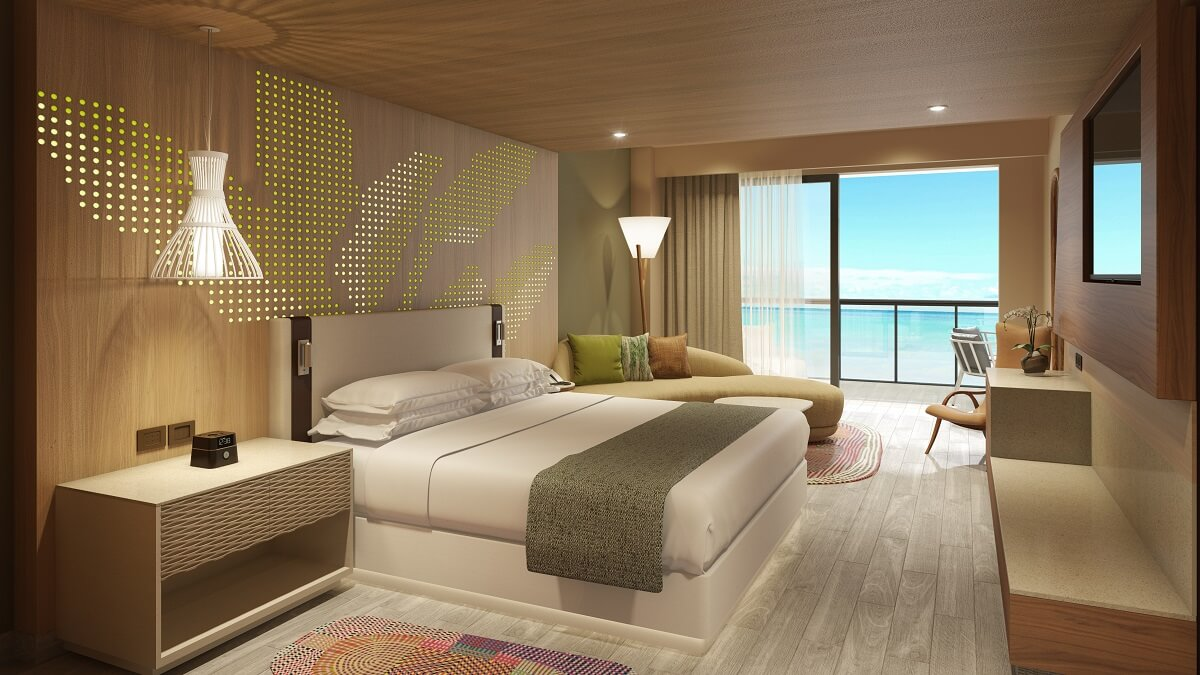 ocean view master suite with a king bed hyatt ziva cap cana