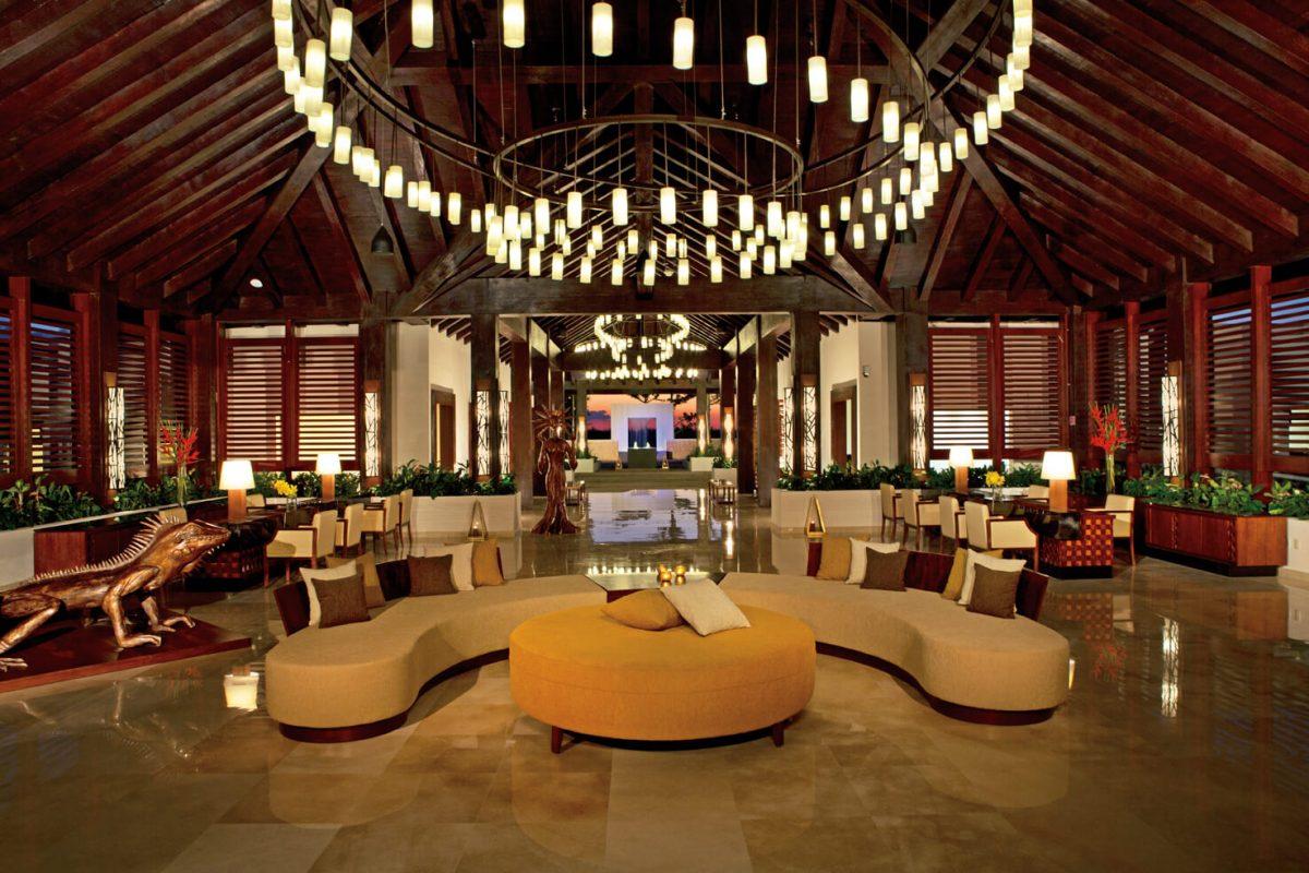 lobby area of the Secrets Playa Mujeres resort