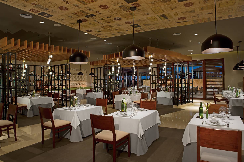 Italian restaurant at the Secrets Playa Mujeres