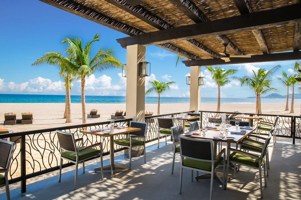 ocean front restaurant area Hyatt Ziva Los Cabos