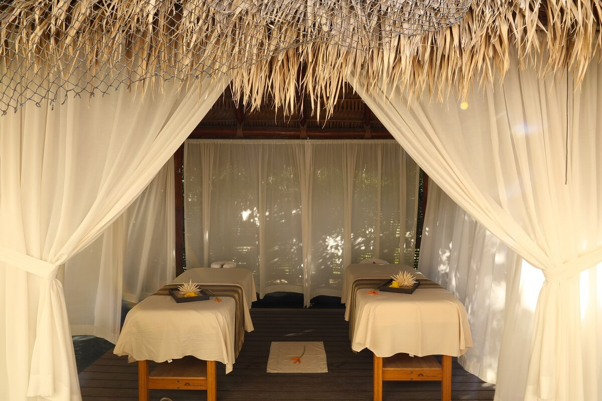 double massage cabin at the Hyatt Ziva Los Cabos spa