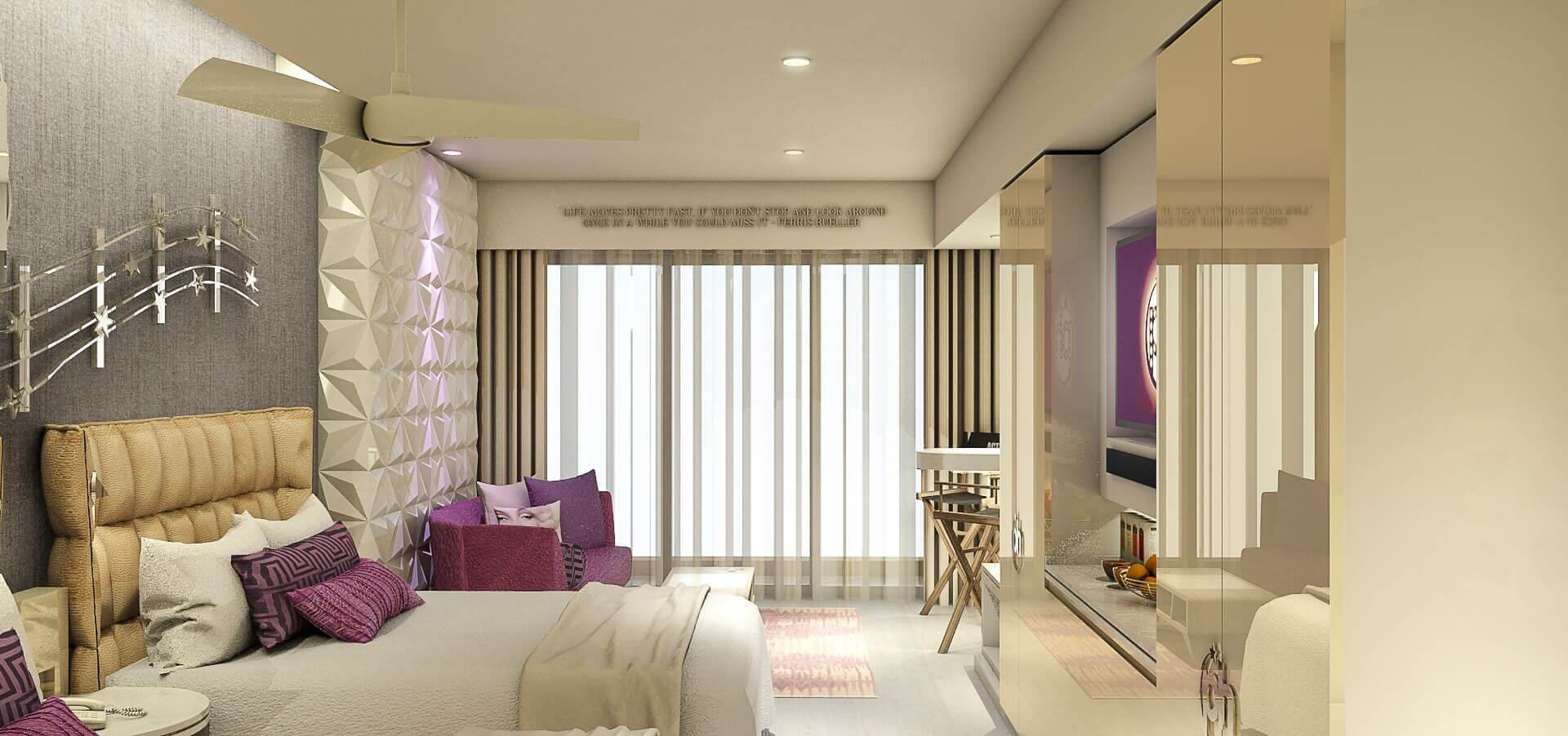 render of the room at the Planet Hollywood Cancun