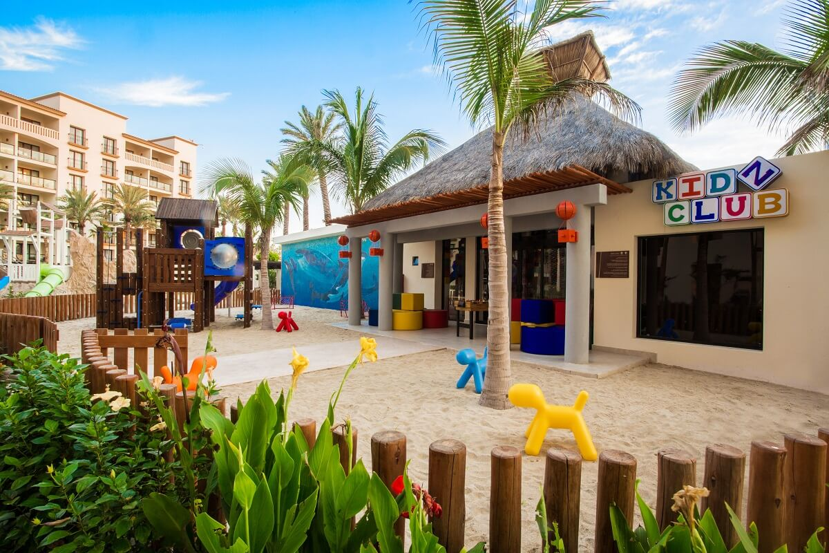 outdoor play area at the children's club at the Hyatt Ziva Los Cabos
