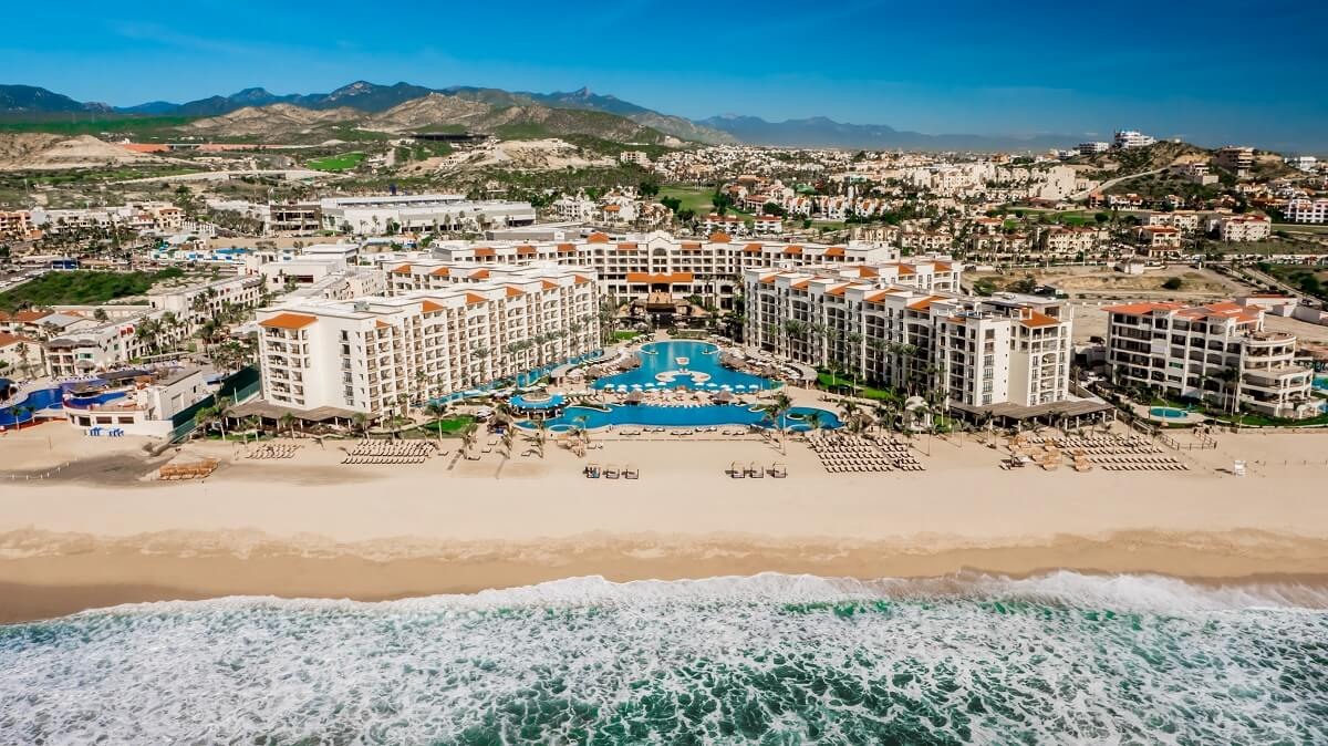 aerial view of the hyatt ziva property in los cabos mexico