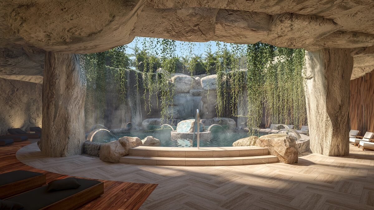 stony hydrotherapy area in the hyatt ziva cap cana spa