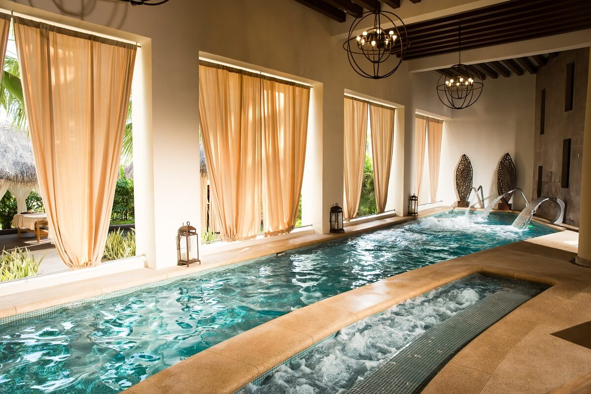 hydrotherapy area at the Hyatt Ziva Los Cabos spa