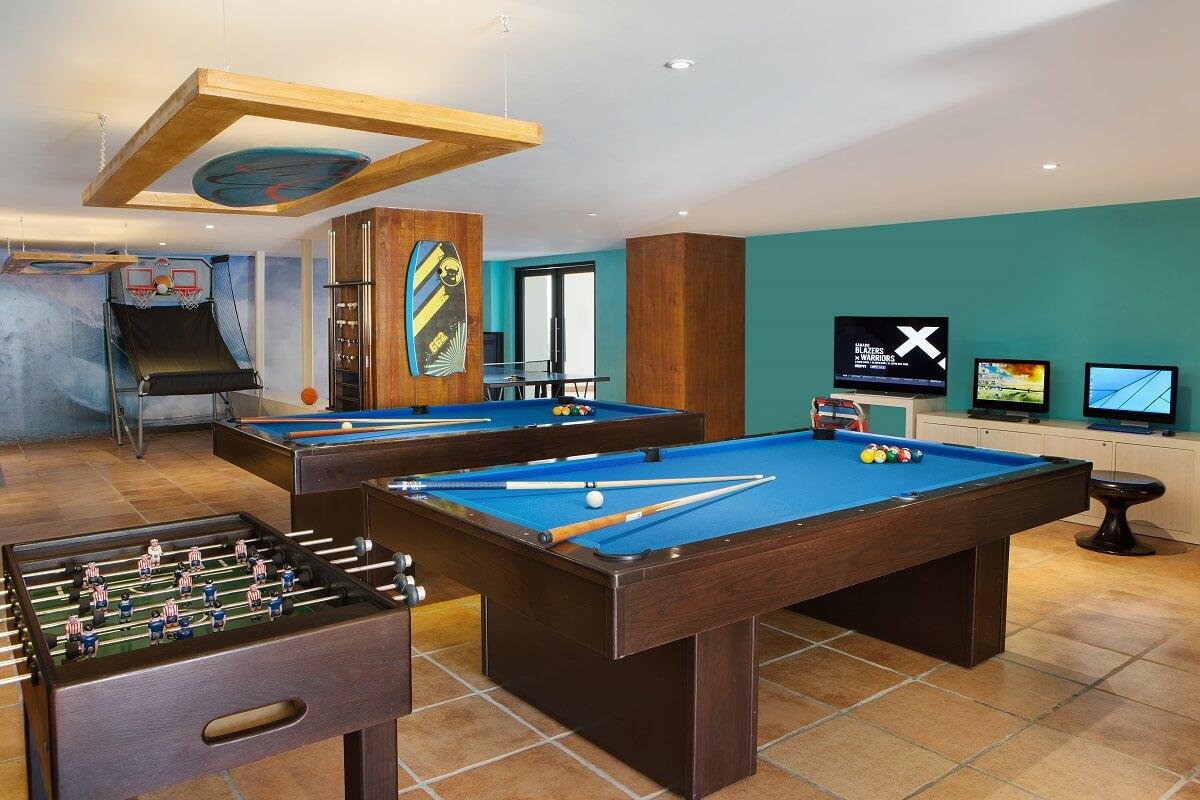 pool tables and foosball at the teens club Hyatt Ziva Los Cabos