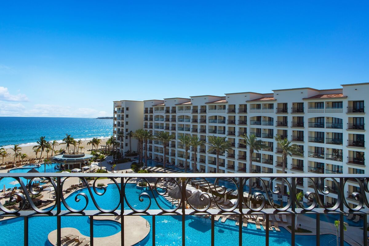 the view from a hyatt ziva suite balcony at the hyatt los cabos
