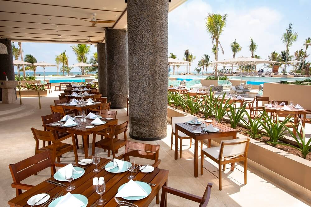 poolside restaurant location for an atelier playa mujeres wedding