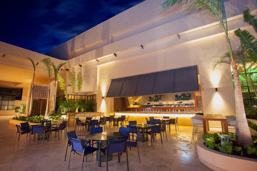 courtyard bar area, atelier playa mujeres