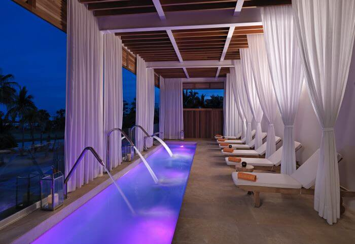 hydrotherapy area in the spa at the paradisus los cabos