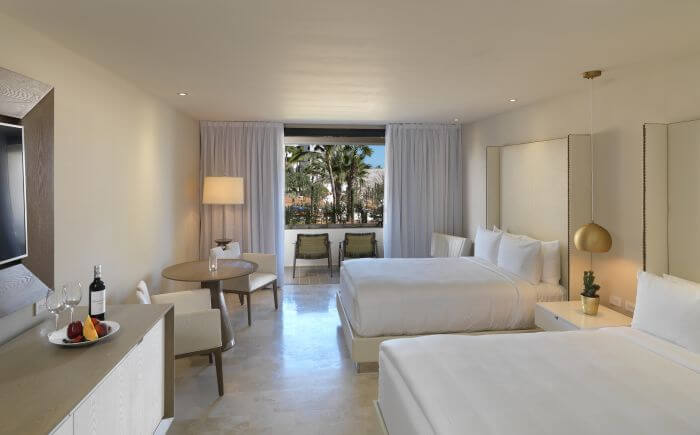 junior suite with garden view at the paradisus los cabos resort