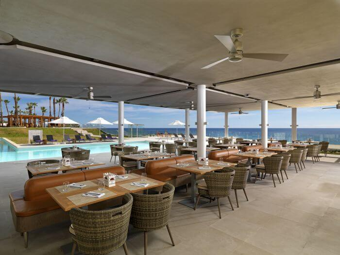 palapa restaurant for ocean view meals paradisus los cabos