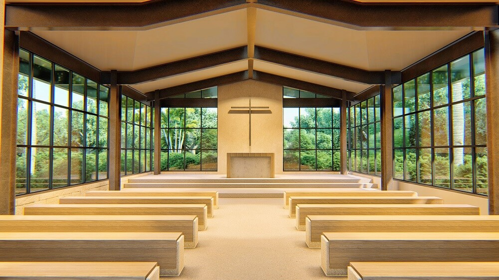 Chapel render for a catholic atelier playa mujeres wedding