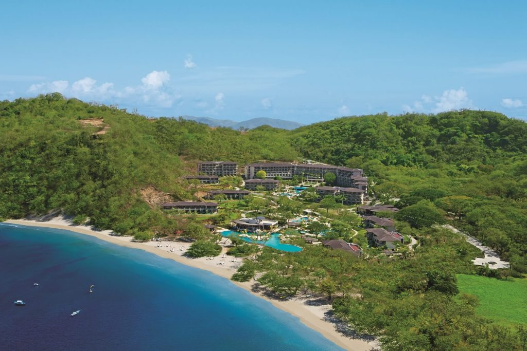 aerial view of the dreams las mareas resort in costa rica