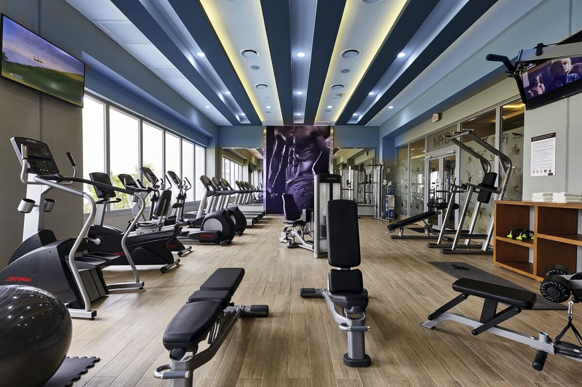 fitness center area at the riu dunamar