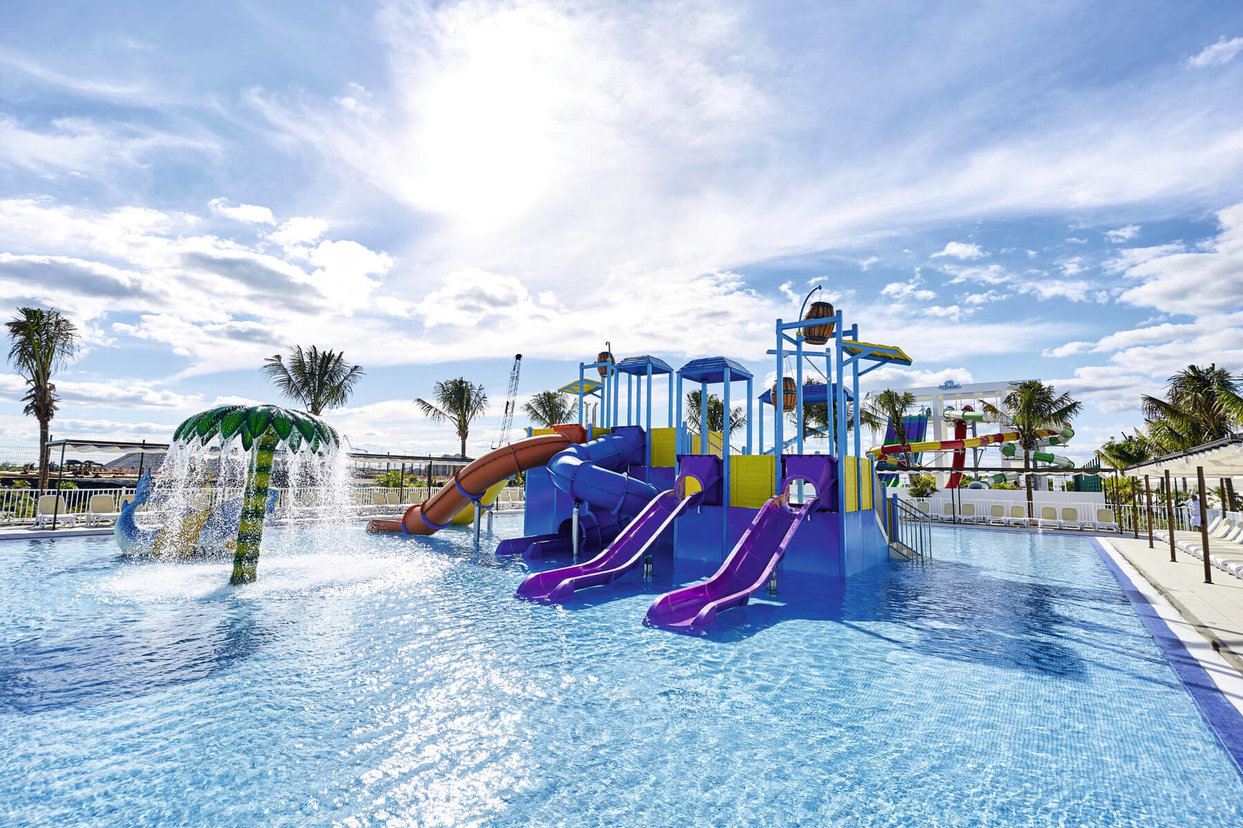 kids splash pad at riu dunamar in costa mujeres