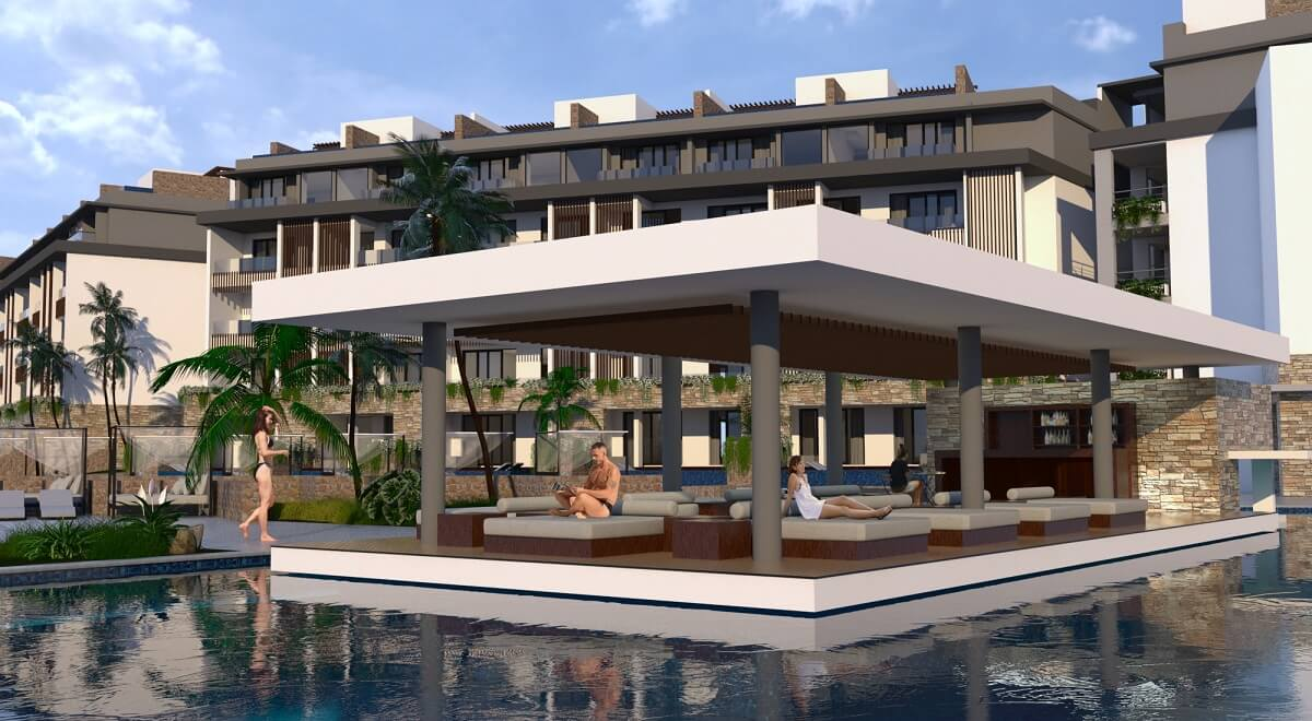 render of the pool lounge area majestic elegance playa mujeres