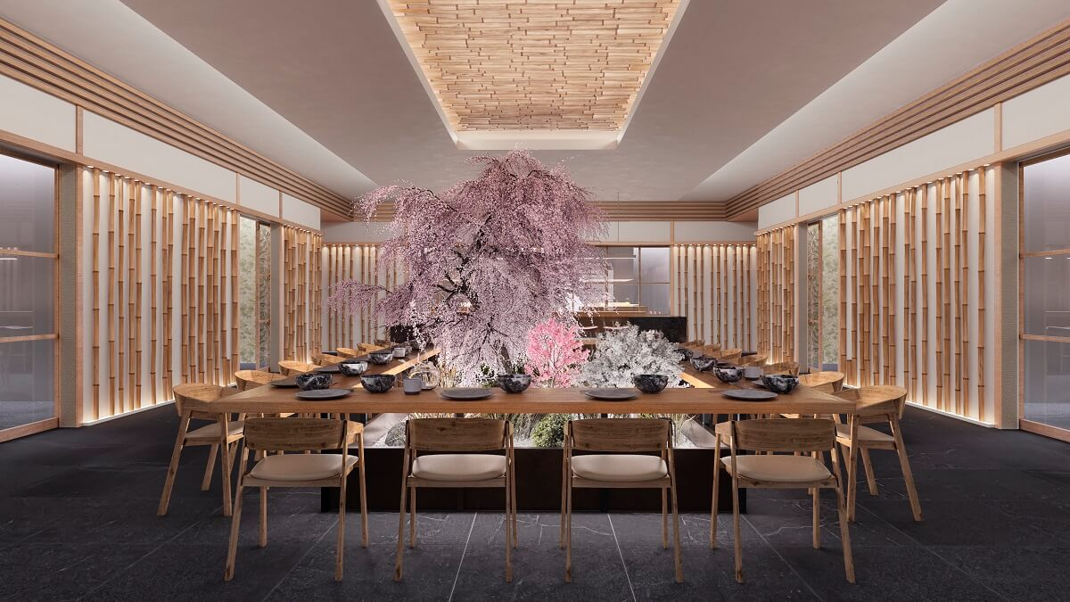 render of the sushi bar majestic elegance playa mujeres