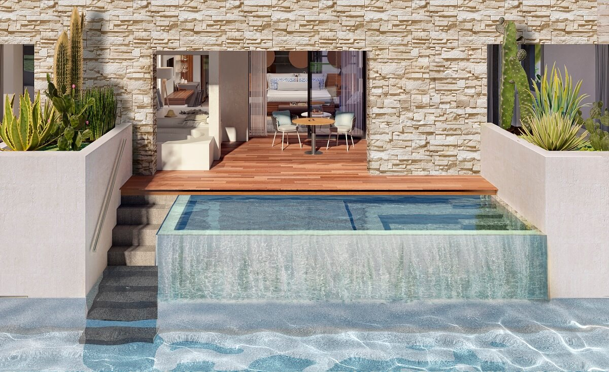 render of the swim out rooms majestic elegance playa mujeres