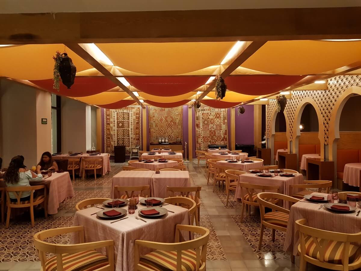mediterranean restaurant with vibrant colors